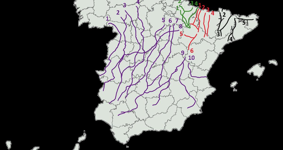 Nombres y anchos de las vías pecuarias