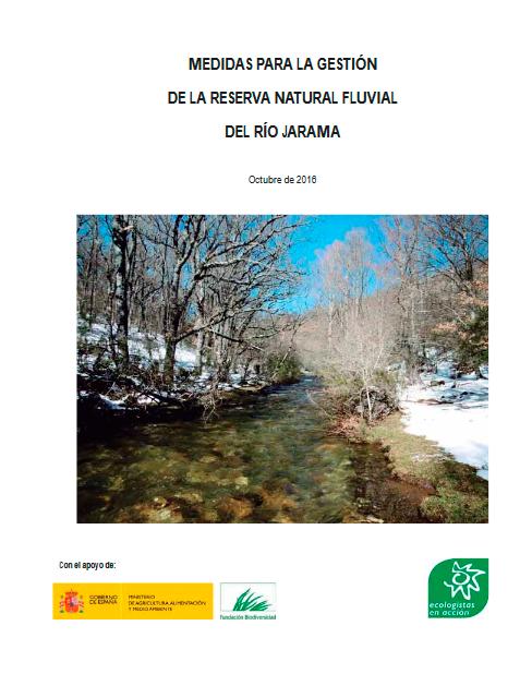 Medidas para la gestión de la reserva natural fluvial del río Jarama