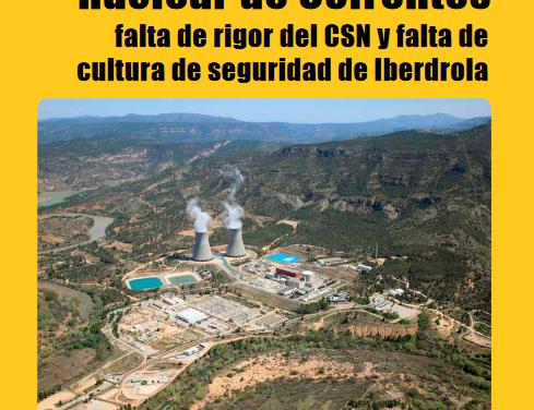 [Informe] Incidentes de la nuclear de Cofrentes