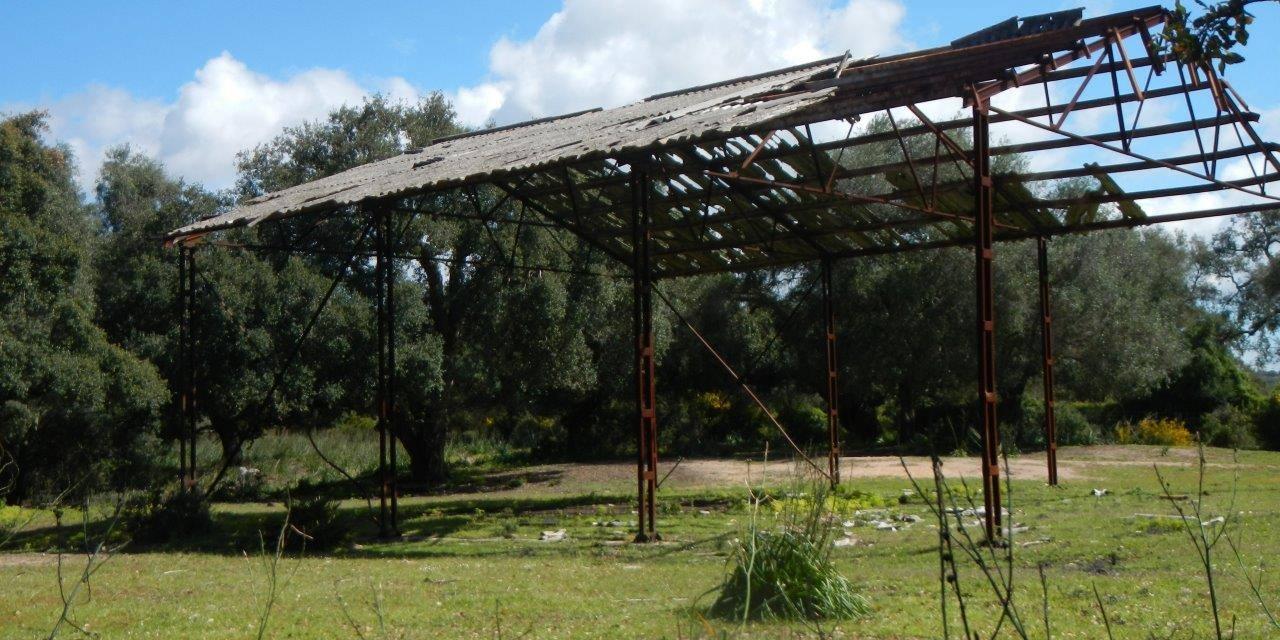 Presencia de fibrocemento en el Parque Natural Los Alcornocales