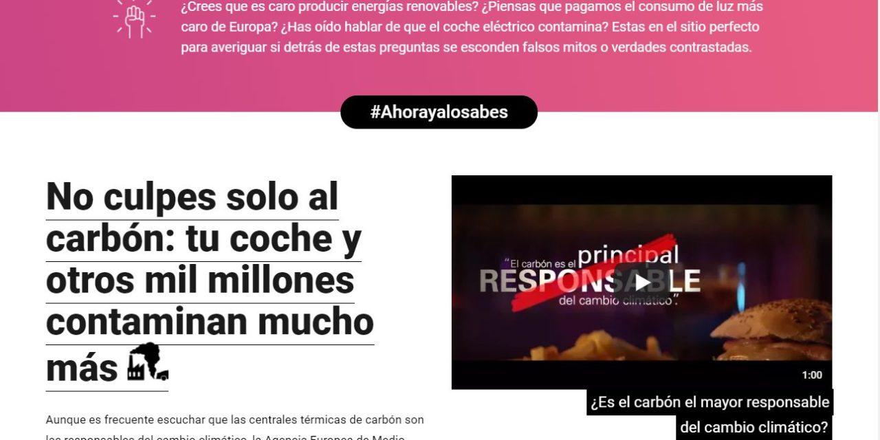 Endesa retira la campaña de publicidad con la que pretendía limpiar las emisiones con las que nos está matando