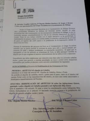 El PSOE de Málaga rectifica a favor del bienestar animal en la Feria de Málaga