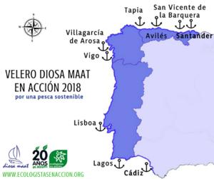 El velero Diosa Maat inicia su campaña estival desde Cádiz hacia Santander