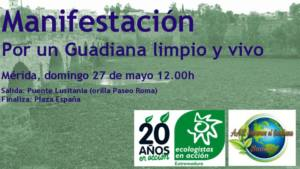 Movilización en Mérida reivindicando un Guadiana limpio y vivo