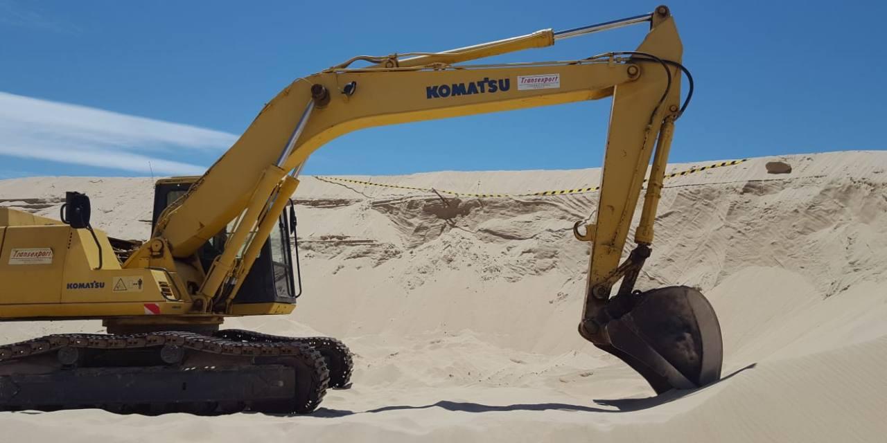 Pérdida de miles de metros cúbicos de arena de la duna de Valdevaqueros