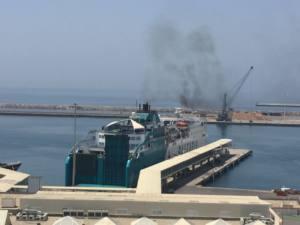 Emisiones de particulas y contaminacion lumínica en el Puerto de Almería