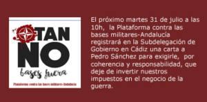 Carta a Pedro Sanchez Pérez-Castejón, presidente del gobierno