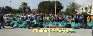 300 voluntarios se movilizaron en La Linea y 7.500 kilos de residuos recogidos