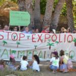 Concentración para reivindicar la protección del Palmeral de Maspalomas