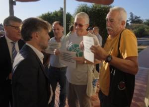 Protesta por la actuación del Puerto en Marismas del Odiel