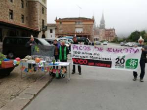 Acción de protesta por la deficiente gestión del Parque Nacional de Picos de Europa