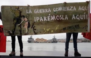 Protestas contra las maniobras militares de la OTAN