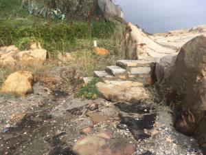 Vertido de hidrocarburosproducido en la playa de la Chullera entre Manilva y San Roque