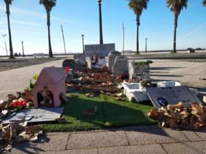 Artivismo, un cementerio de animales sobre las afecciones de la pirotecnia