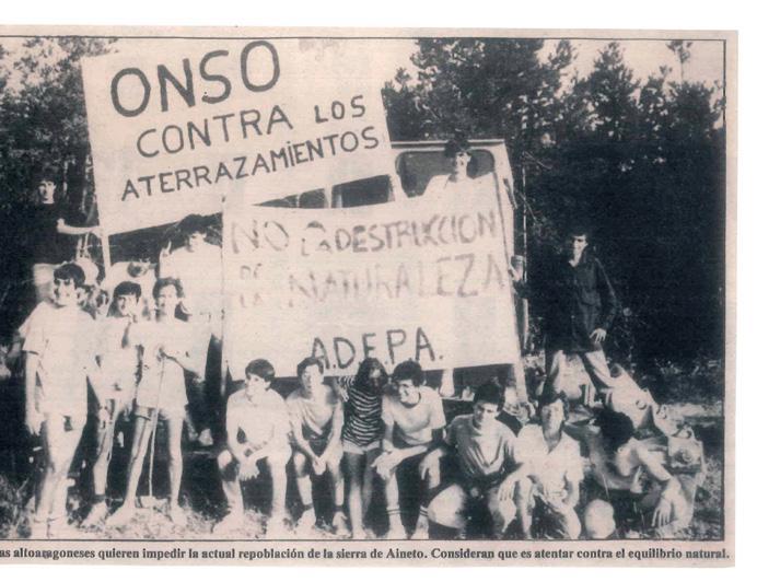 Los aterrazamientos de Aineto, Huesca 1985