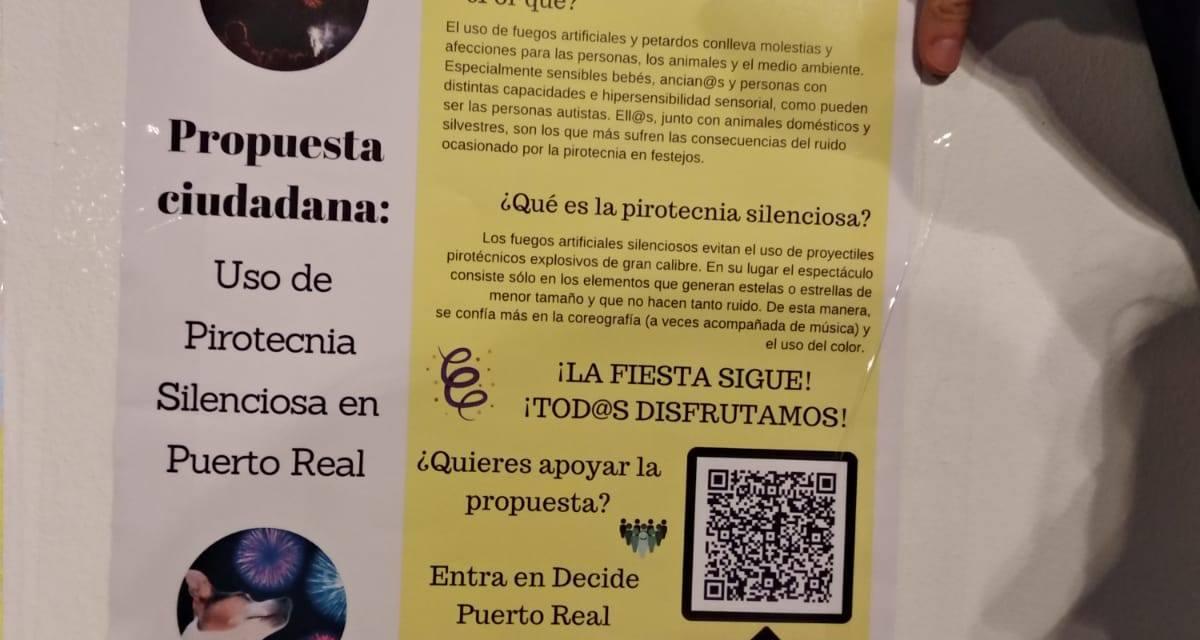 El Ayuntamiento de Puerto Real usará pirotecnia silenciosa