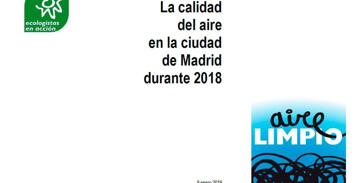 La calidad del aire en la ciudad de Madrid en 2018