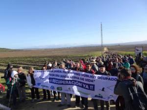 Multitudinaria marcha en demanda de la recuperación de las lagunas de la Janda