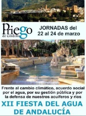Los principales retos del Agua en Andalucía a debate, en Priego de Córdoba