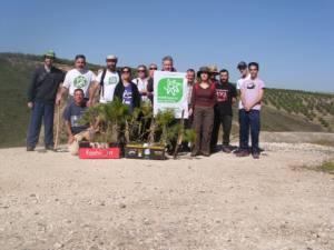 Plantación de árboles en el cerro de la cueva del Yeso