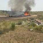 Incendios consentidos en el vertedero ilegal de la dehesa municipal de Navas del Rey