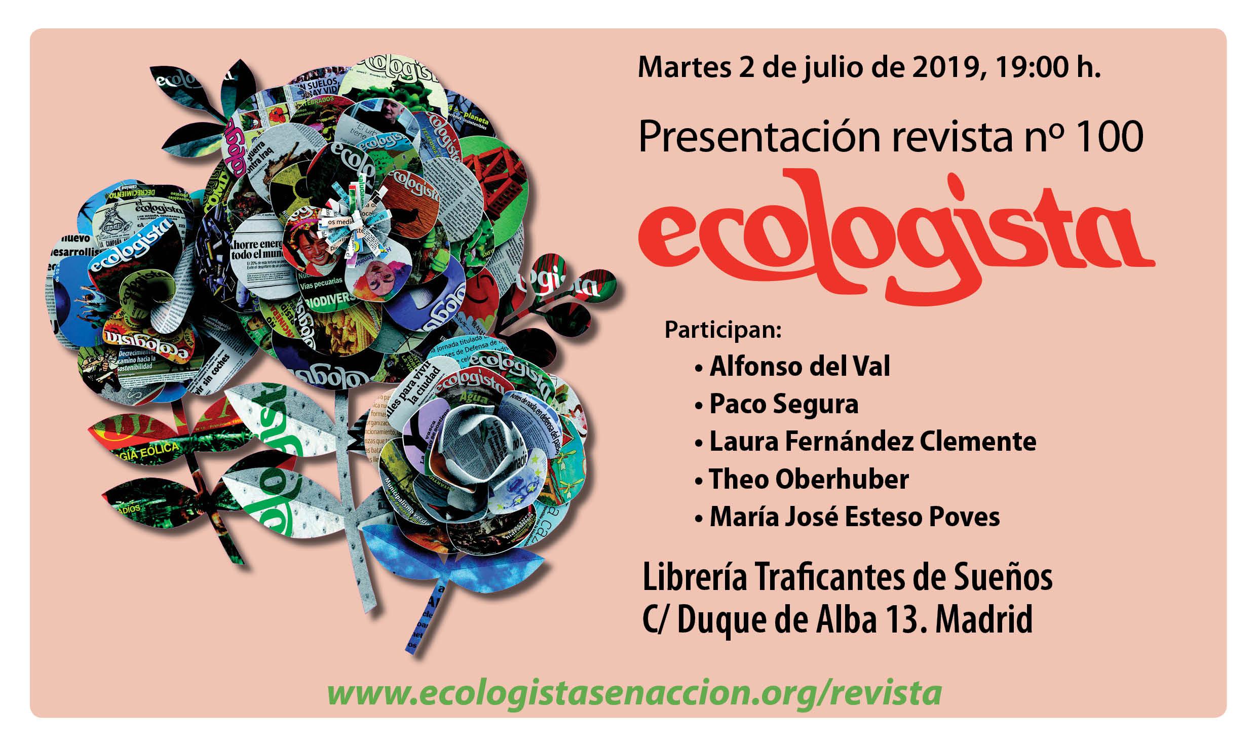 Resultado de imagen de 100 números de la revista ecologista