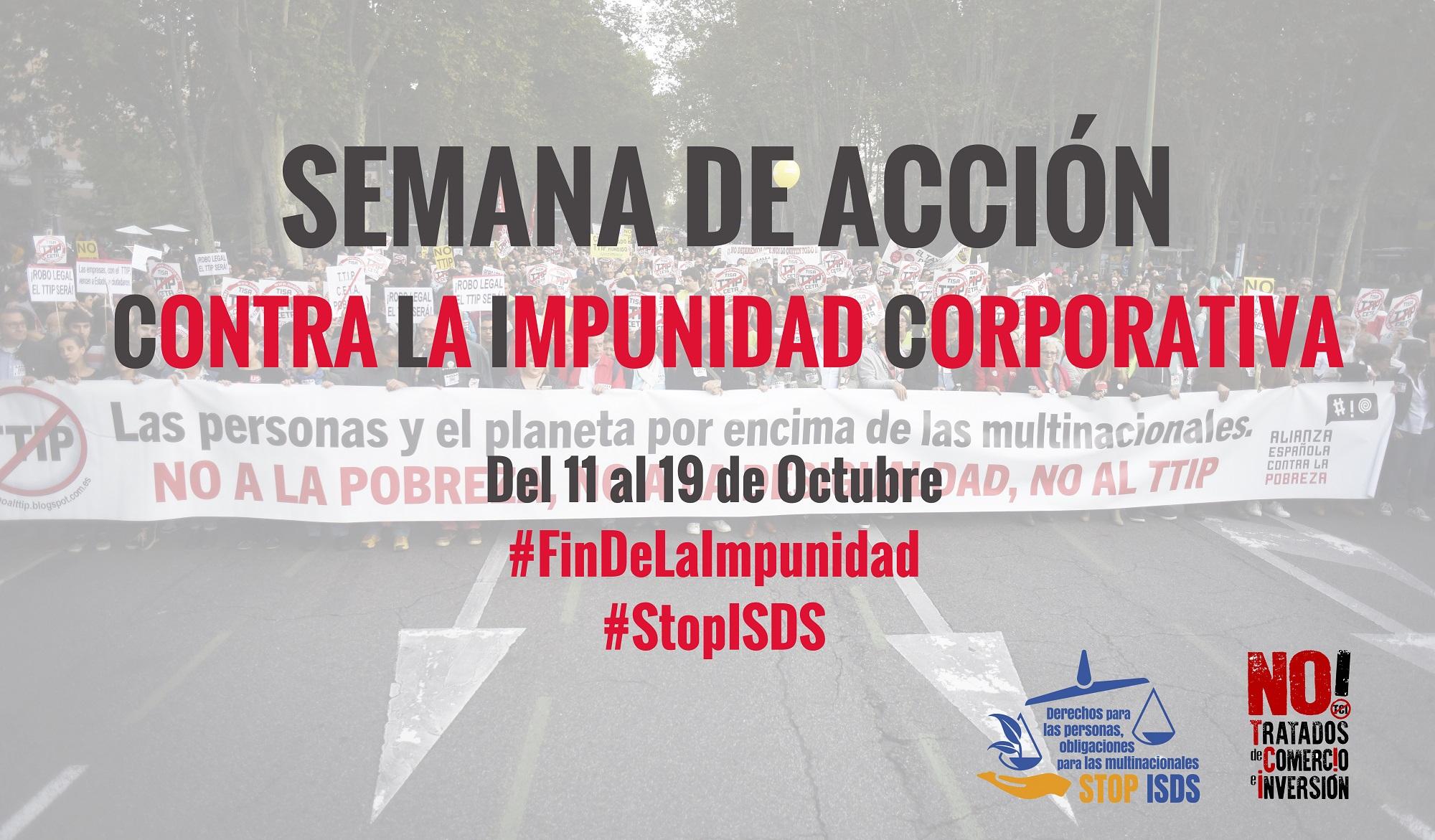 Resultado de imagen de Semana de Acción contra la Impunidad Corporativa