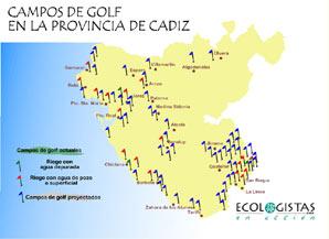 informe sobre campos de golf y urbanismo de la provincia de cádiz